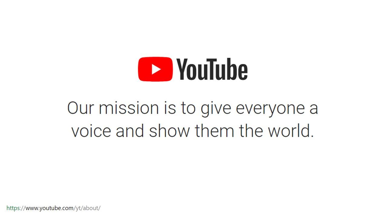 YouTube mission