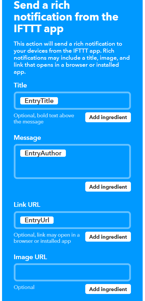 Configure Custom Notifications using IFTTT 34