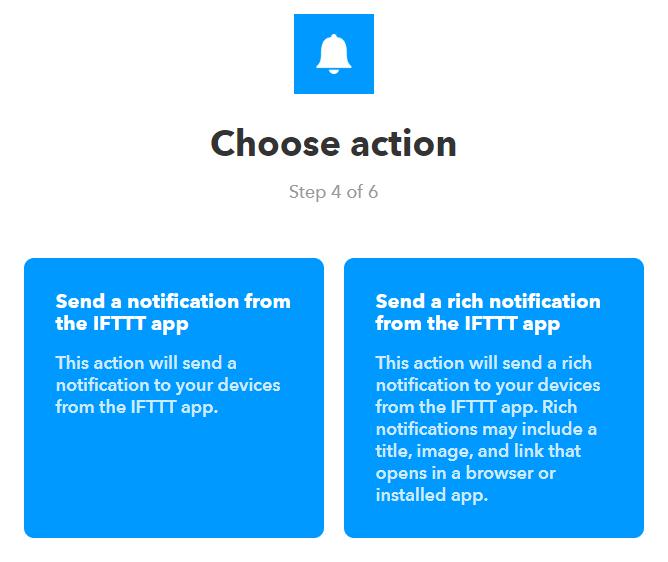 Configure Custom Notifications using IFTTT 30
