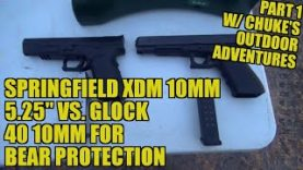 10mm Springfield XDM 5.25″ vs. Glock 40 M.O.S.