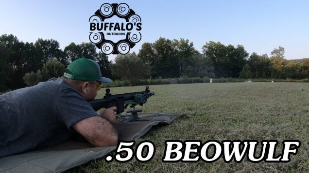 .50 Beowulf 100 yard water test