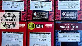 Lot codes on bulk pack .22lr