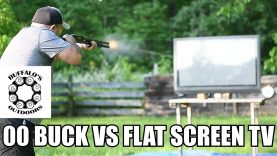 00 Buckshot vs Flat Screen TV – will it go through?