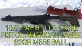 10.5″ Palmetto State Armory AR-15 Pistol American Eagle M855 Ball Review