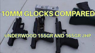 10mm Glocks Velocity Compared with Underwood JHP