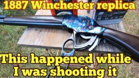 1887 Winchester replica PW87 lever action shotgun