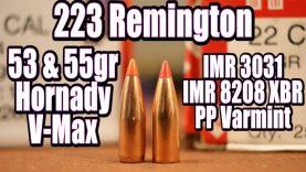 223 Rem – 53gr & 55gr Hornady V-Max