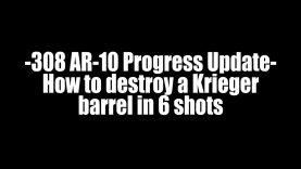 308 AR-10 Progress Update