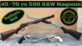 45-70 vs 500 S&W Magnum vs Ballistic Gel (Rifle & Pistol)