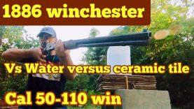 50-110 Win vs. 1 Gallon of Water vs. Eight Ceramic Tiles