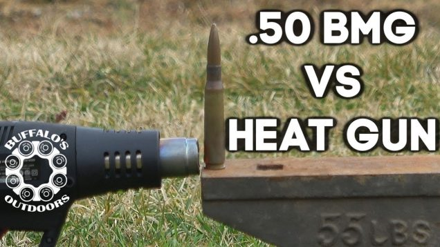 .50 BMG Cartridge vs Heat Gun