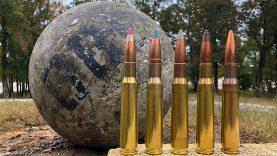 50 BMG vs Atlas Stone (380 lbs!!!)