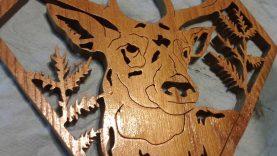 A deer plaque