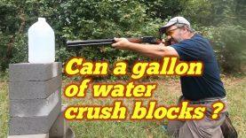 A Gallon of Water vs Solid Cap Concrete Block 50-110 WCF