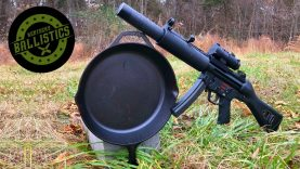 Can A Cast Iron Skillet Stop A MP5? (Full Auto Friday)