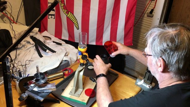 Easiest way to dump powder from Lyman Brass Smith Measure VR to Uncle Jim