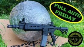 Full Auto AR-15 vs Giant Aluminum Foil Ball (Full Auto Friday)