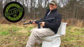 Full Auto AR-15 vs Toilet (Full Auto Friday)