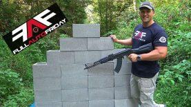 Full Auto Friday! AK-47 vs Cinder Block Wall! ⛏?