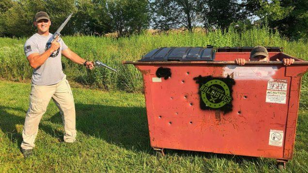 Guns vs Dumpster