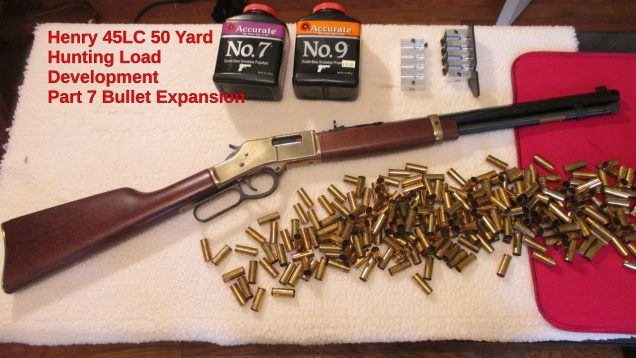 Henry 45LC 50 Yard Hunting Load Development Part 7 Bullet Expansion