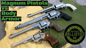 Magnum Pistols vs Body Armor