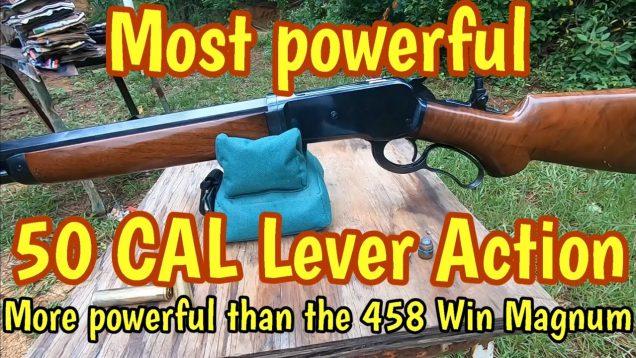 Most powerful Lever action, 300 gr Barnes bullet vs 500 gr Woodleigh