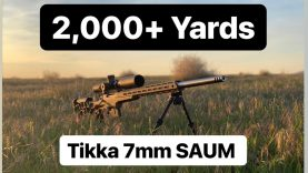 My New Long Range Record Shot! 2,000+ Yards! Tikka 7mm SAUM