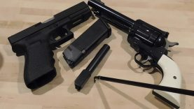 Range Test Glock 21 And Ruger Blackhawk With Loads of Bacon Cast HardBall Bullets