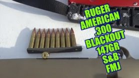 Ruger American  300 BlackOut 147gr Sellier and Belliot FMJ Review