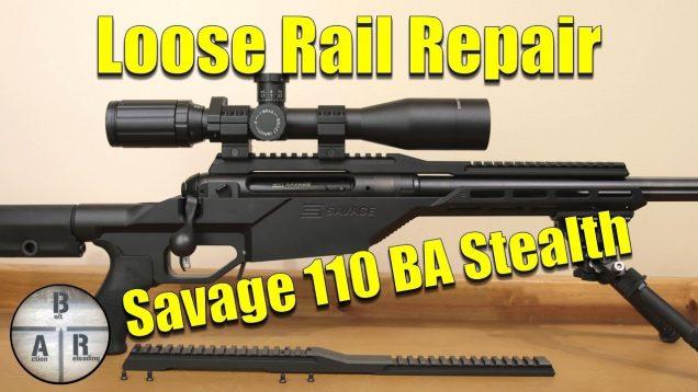 Savage 110BA STEALTH 338 Lapua Magnum – Scope Rail Fix