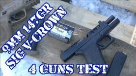 Sig V-Crown 9mm 147gr JHP Four Guns Test