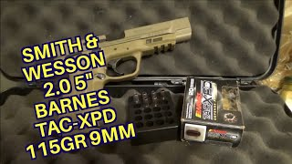 Smith and Wesson M&P 2.0 5″ 9mm Barnes TAC-XPD 115gr +P Review