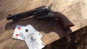 Splitting playing cards with Taylor's & Co the Gunfighter short stroke