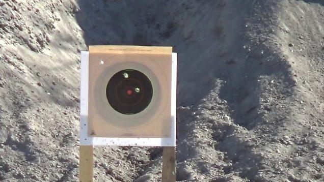 Zveroboy slug range test. @100-yards.