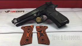 Beretta Grips vs LOK Grips checkered thin grips
