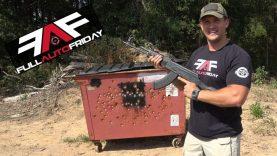 Full Auto Friday! AK-47 & AR-15 vs Dumpster ?
