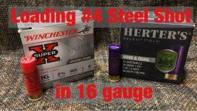 Loading #4 steel shot in the 16 gauge