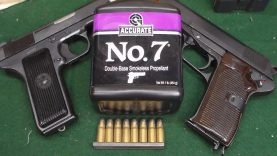 7 62X25mm Tokarev in the Yugo M57 and CZ52 with Accurate #7 and surplus ammo