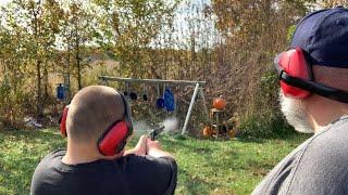 Kelby and I shooting pumpkins (2019)
