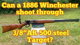 """Lever Action 50-110 vs 3/8"""" AR500 Target"""