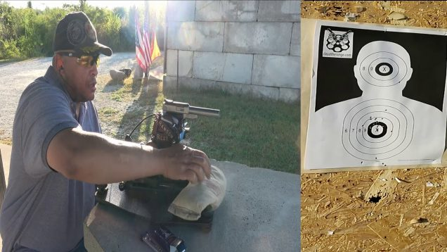 S&W Victory – Factory vs Volquartsen Barrel 50yd line – In A Ransom Rest