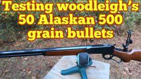 Testing Woodleigh's 50 Alaskan 500gr in heavy bone and ballistic material