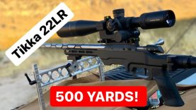 22LR at 500 Yards! Tikka T1x Ivey Adjustable Scope Base test