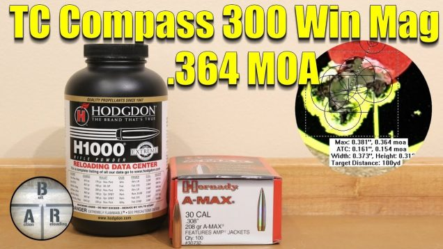 Thompson Center Compass – Our best groups yet 208gr with H1000 match load