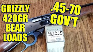 .45-70 420gr Grizzly Hardcast WLNGC Marlin 1895 Review