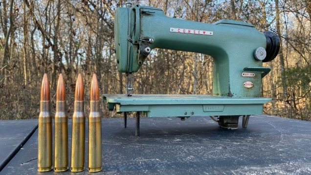 50 BMG vs Industrial Sewing Machine ?