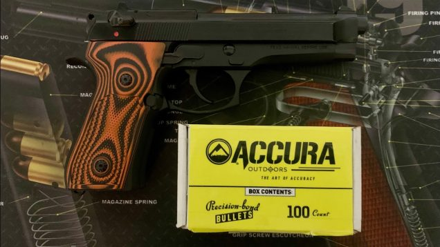 Accura 115gr 9mm in my Beretta 92FS