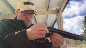 """Shotgun inserts 45 Colt 18"""" at the range"""