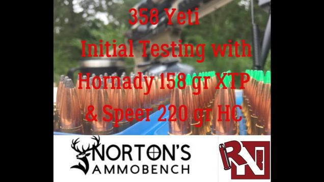 358 Yeti: Initial Testing w/ 158gr XTP & 220 gr Hot-Cor